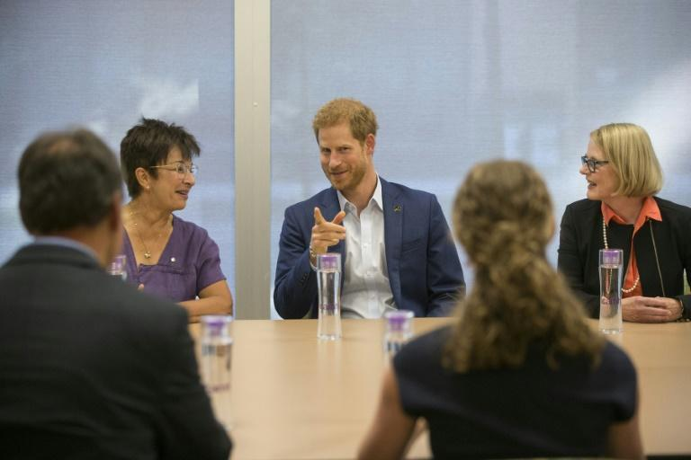 Prince Harry attends a round table on youth mental health as he visits The Centre for Addiction and Mental Health in Toronto