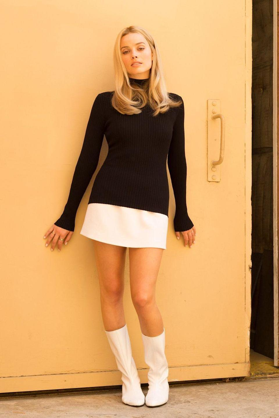 """<p>When actress Margot Robbie teased her role as Sharon Tate on <a href=""""https://www.instagram.com/p/BmJACWgnwaW/"""" rel=""""nofollow noopener"""" target=""""_blank"""" data-ylk=""""slk:Instagram"""" class=""""link rapid-noclick-resp"""">Instagram</a>, we were instantly transported to the '60s thanks to her amazing white go-go boots.</p>"""