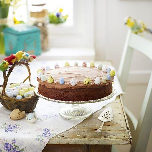 """<p>This delicious chocolate cake is simple to make, using only four ingredients.</p><p><strong>Recipe: <a href=""""https://www.goodhousekeeping.com/uk/food/recipes/cheats-chocolate-cake"""" rel=""""nofollow noopener"""" target=""""_blank"""" data-ylk=""""slk:Cheat's chocolate cake"""" class=""""link rapid-noclick-resp"""">Cheat's chocolate cake</a></strong><br><br><br> </p>"""