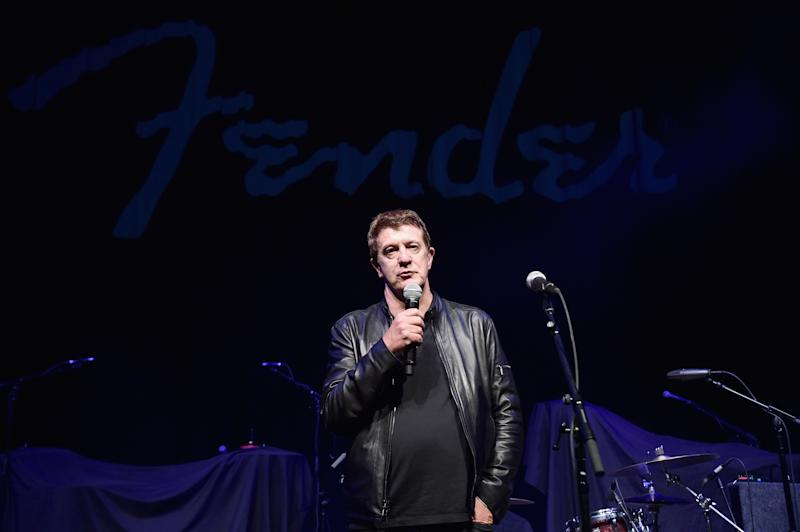LOS ANGELES, CA - SEPTEMBER 22: CEO, Fender, Andy Mooney speaks onstage at the Fender Hollywood office Grand Opening with exclusive performances By Cold War Kids and Bleached on September 22, 2016 in Los Angeles, California. (Photo by Alberto E. Rodriguez/Getty Images for Fender Musical Instruments)
