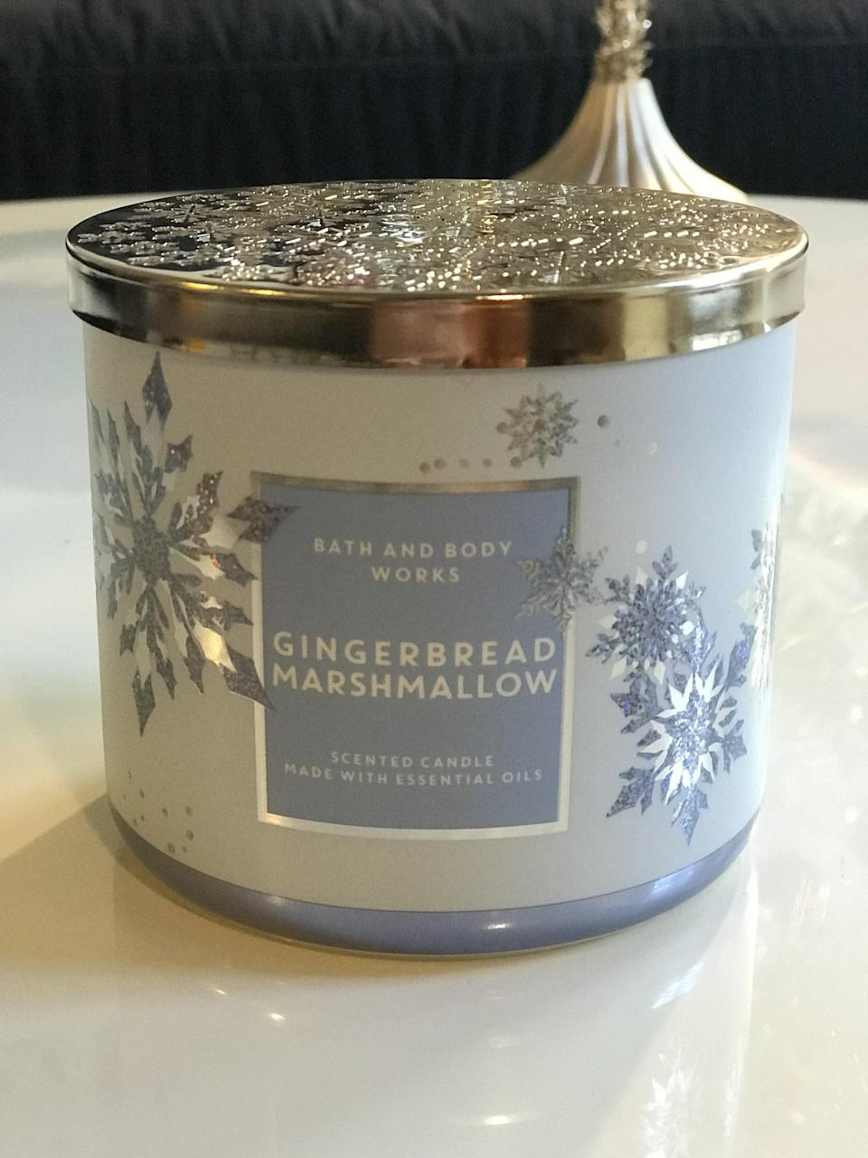 <p><span>Gingerbread Marshmallow 3-Wick Candle</span> ($15, originally $25)</p> <p><strong>What It Smells Like:</strong> Sweet with hints of spiced rum, which I especially appreciate.</p>