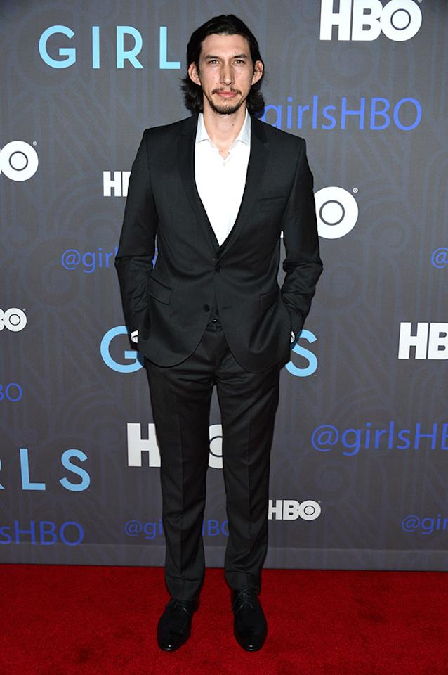 "Adam Driver attends HBO's premiere of ""Girls"" Season 2 at the NYU Skirball Center on January 9, 2013 in New York City."