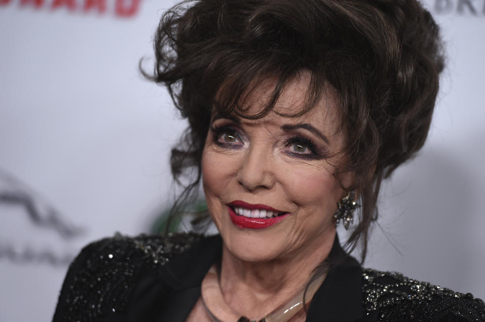 Joan Collins escapes 'terrifying' fire in London flat