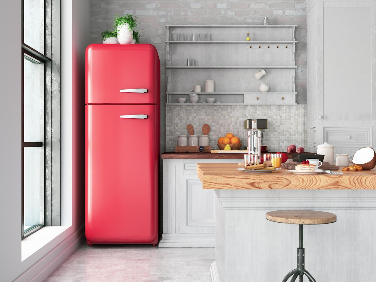 <p>Next time you clean out your refrigerator, get out the WD-40 for caked-on messes that water and soap can't clean. </p>