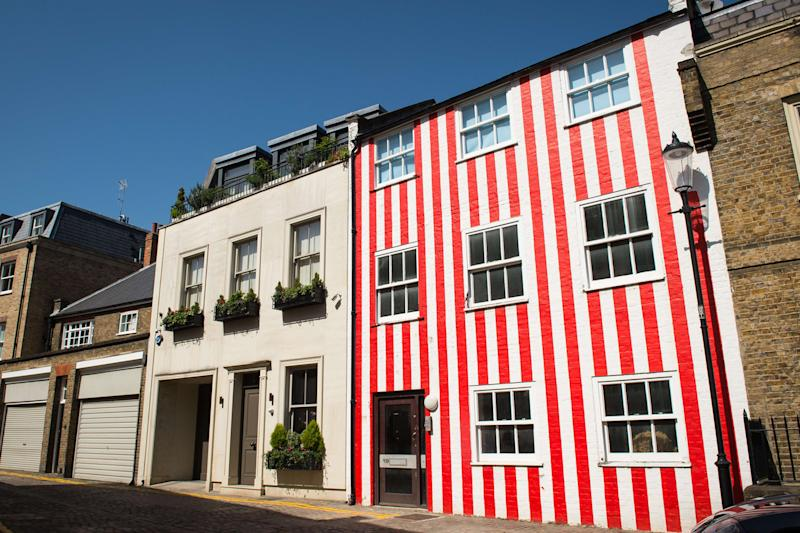 The controversial striped house in Kensington: AFP