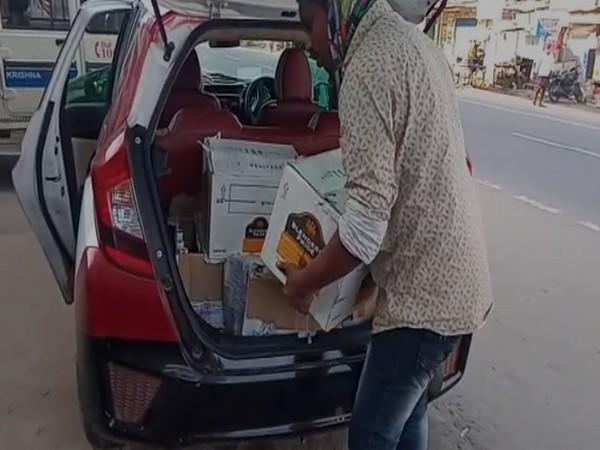 Liquor ammounting to more than Rs 1.5lakh seized in Krishna, Andhra Pradesh