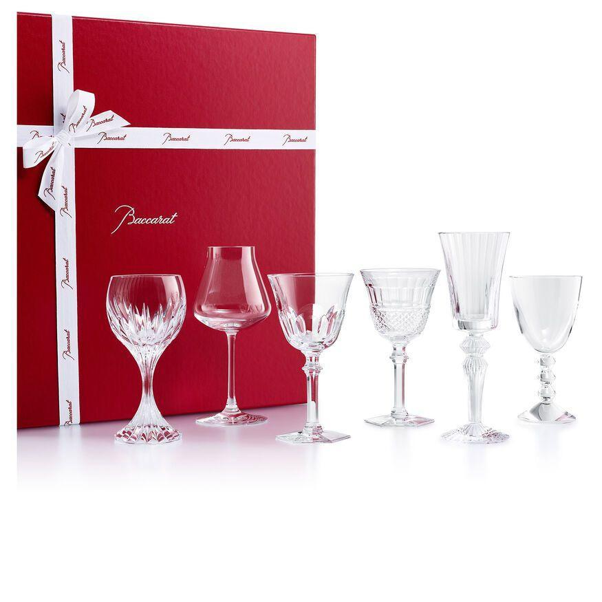 """<p>baccarat.com</p><p><strong>$890.00</strong></p><p><a href=""""https://us.baccarat.com/en/tableware/tableware-gift-sets/wine-therapy-set-2812727.html#q=personalize&lang=en_US&start=1"""" rel=""""nofollow noopener"""" target=""""_blank"""" data-ylk=""""slk:SHOP NOW"""" class=""""link rapid-noclick-resp"""">SHOP NOW</a></p><p>Opt for gift ideas a couple would never indulge in, like individualized crystal barware, to encourage them to entertain and keep the celebration going—whether it's just for the two of them on a night in, or a larger dinner party. Pair this gift set with personalized drink tags for nights of entertaining. </p>"""