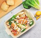 """<p>People will think you've made extra effort when you serve up this easy but delicious chicken Caesar tray bake.</p><p><strong>Recipe: <a href=""""https://www.goodhousekeeping.com/uk/food/recipes/a577817/chicken-caesar-traybake/"""" rel=""""nofollow noopener"""" target=""""_blank"""" data-ylk=""""slk:Chicken caesar tray bake"""" class=""""link rapid-noclick-resp"""">Chicken caesar tray bake</a></strong></p>"""