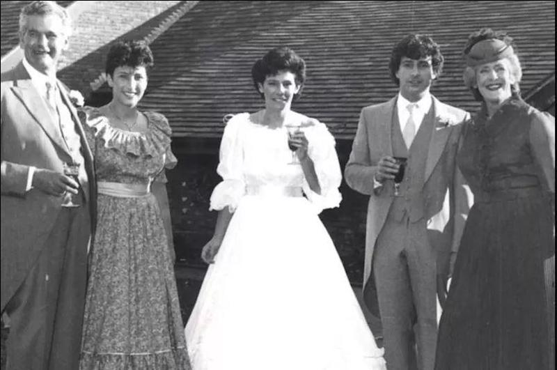 The Laitner familly at Suzanne's (centre) 1983 wedding in Sheffield. Basil (left) along with Richard and Avril (right) were murdered hours later