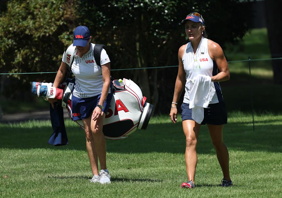 Lexi Thompson at the 2020 Olympics in Tokyo