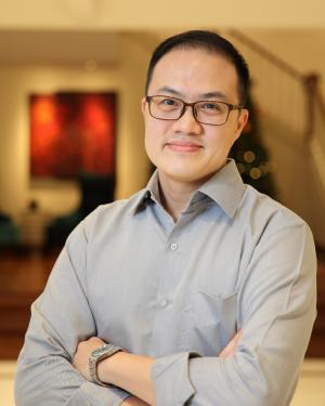 Medium shot of Victor Ng, vice-chairman and secretary of the Management Corporation Strata Title (MCST) committee