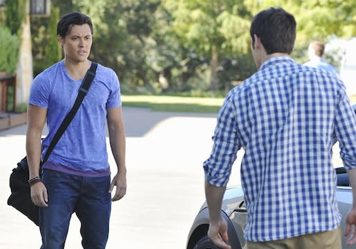 Exclusive Lying Game First Look: Ethan and Thayer Fight for Emma – Literally!