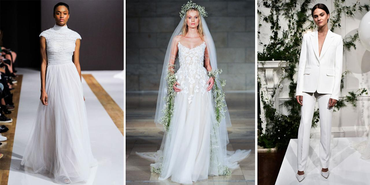 <p>Meghan Markle and Prince Harry are finally engaged, huzzah! Which means it's time to get the Pinterest boards out, because we've got a royal wedding outfit to find. And if the engagement photocall is anything to go by, Meghan can work a white dress like no other.</p><p>Check out our round up of the dreamiest haute couture wedding dresses we'd love to see Meghan in on the big day.</p>