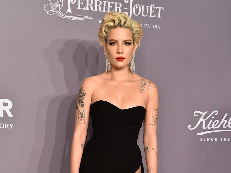 Halsey discusses how pregnancy has changed their body (Getty Images)
