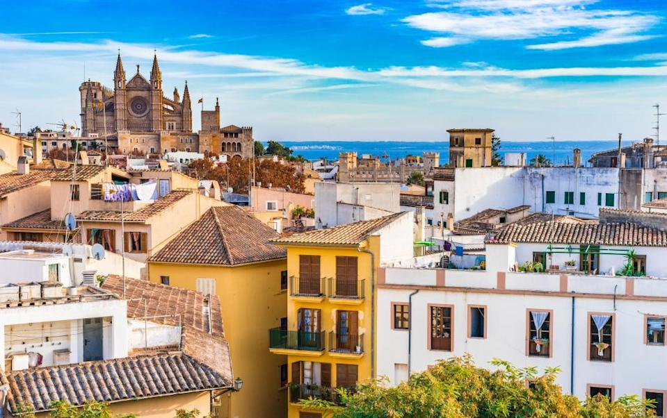 Palma de Majorca old town and Cathedral.