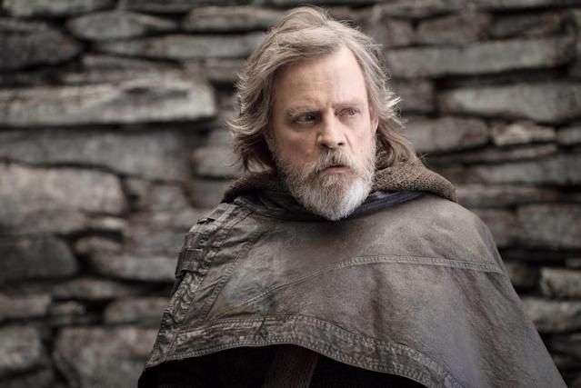Mark Hamill as Luke Skywalker in <em>The Last Jedi.</em> (Photo: John Wilson/Walt Disney Studios Motion Pictures/Lucasfilm Ltd./Courtesy of Everett Collection)