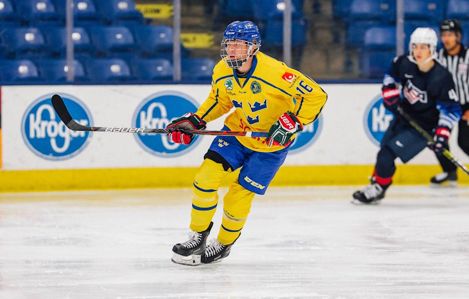 Detroit Red Wings selected 18-year-old Swedish winger Lucas Raymond with the No. 4 overall pick in the NHL draft, Oct. 6, 2020.