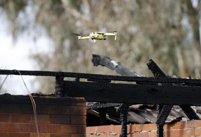 This particular drone was flown by fire crews following a house fire in June. Source: AAP