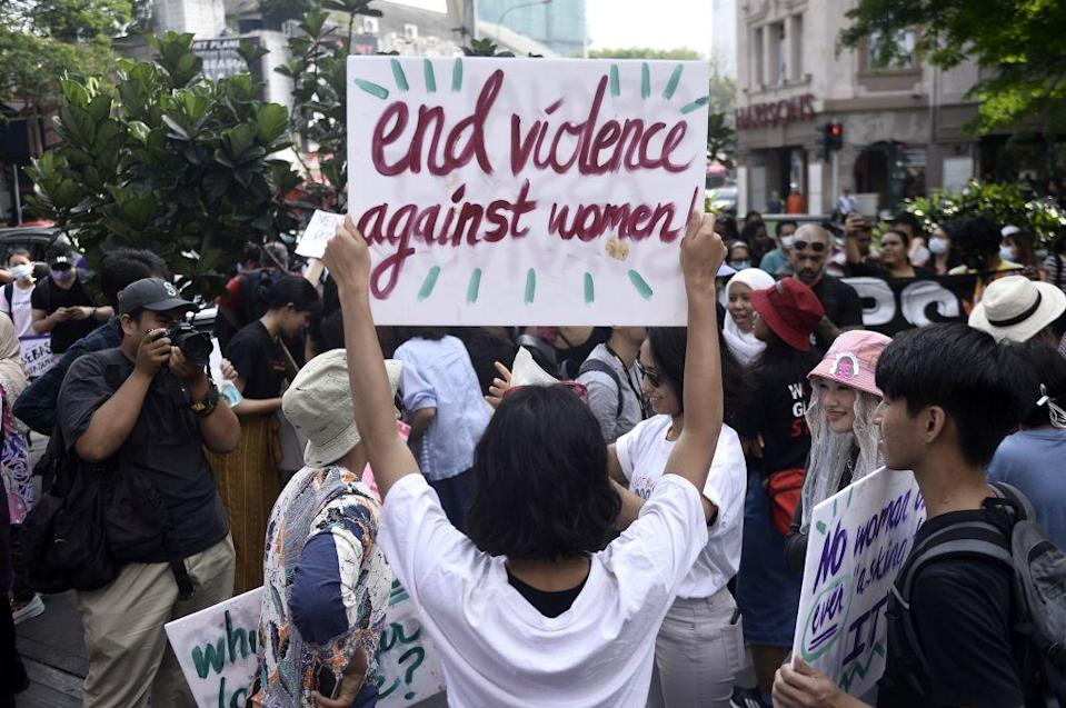 File picture shows participants at the Women's March in Kuala Lumpur March 8, 2020. this year's instalment will take on a slightly different approach and would be driven by hashtags and posts on social media in place of the usual gatherings, speeches, and placards.  ― File picture by Miera Zulyana