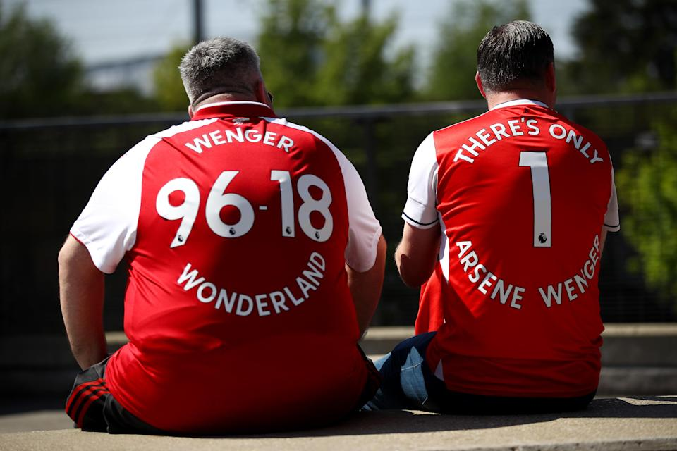 Arsenal fans sent Arsene Wenger off in style. (Getty)