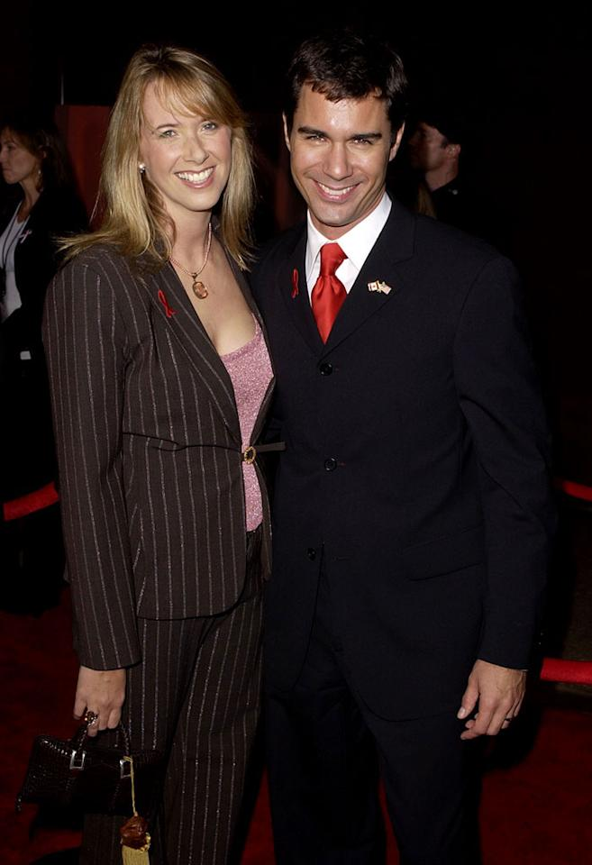 Eric McCormack and wife, Janet Holden at The 53rd Annual Primetime Emmy Awards.