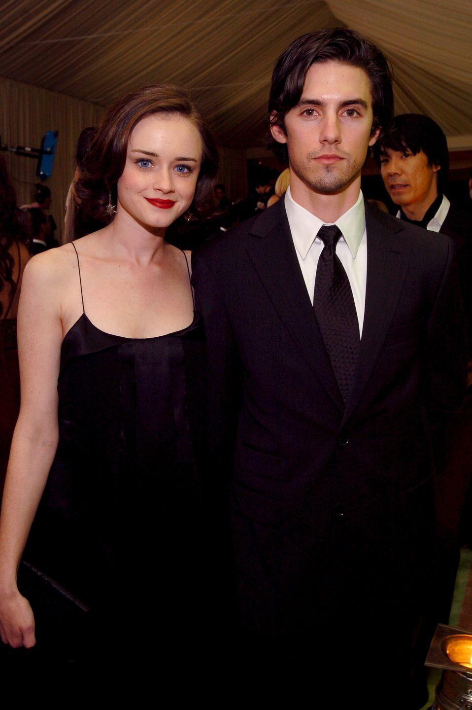 <p>Bledel and Ventimiglia were on-screen love interests on <em>Gilmore Girls</em>, which extended off-screen as well. But just like their characters, the couple parted ways in 2006—only to recently reunite years later for the show's Netflix reboot, <em>Gilmore Girls: A Year in the Life.</em></p>