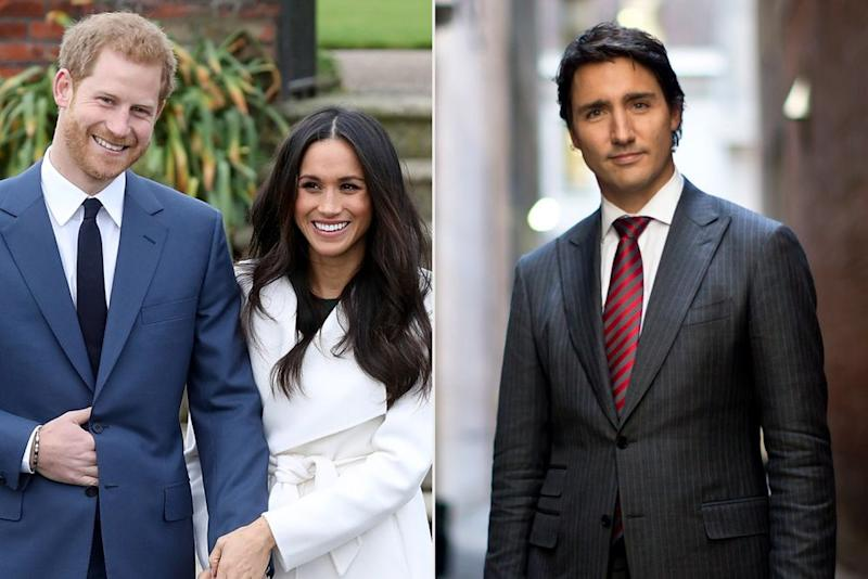 Prince Harry and Meghan Markle, Justin Trudeau | Chris Jackson/Getty Images; Lucas Oleniuk/Getty Images)