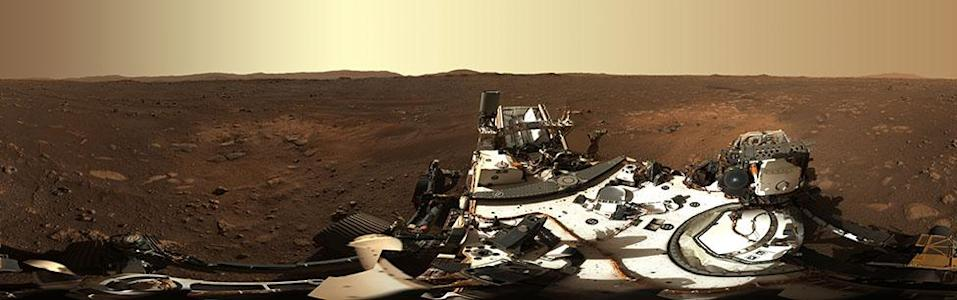 A panorama, taken on 21 February, by Mastcam-Z