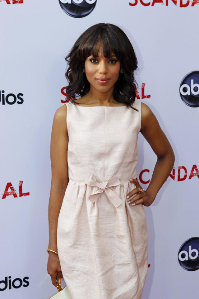 "Kerry Washington attends ""An Evening with Scandal"" at The Academy of Television Arts & Sciences for their season finale table read and Q&A on Thursday, May 16, 2013."