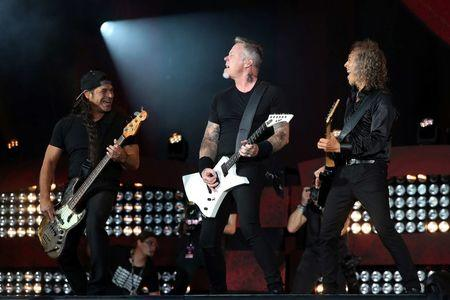 File photo of Metallica performing at the Global Citizen Festival at Central Park in Manhattan