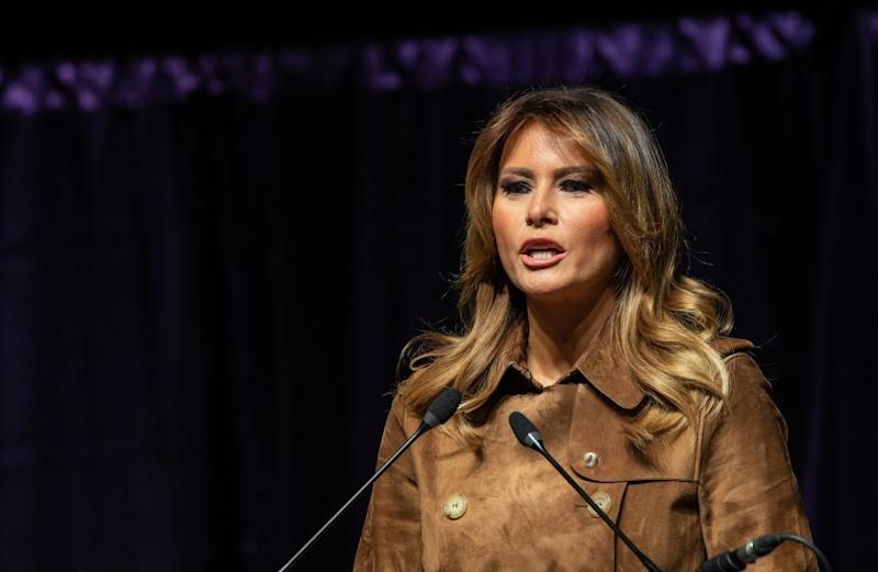 US First Lady Melania Trump has put a TV host on blast for his comments about her son, Barron. Photo: Getty Images.