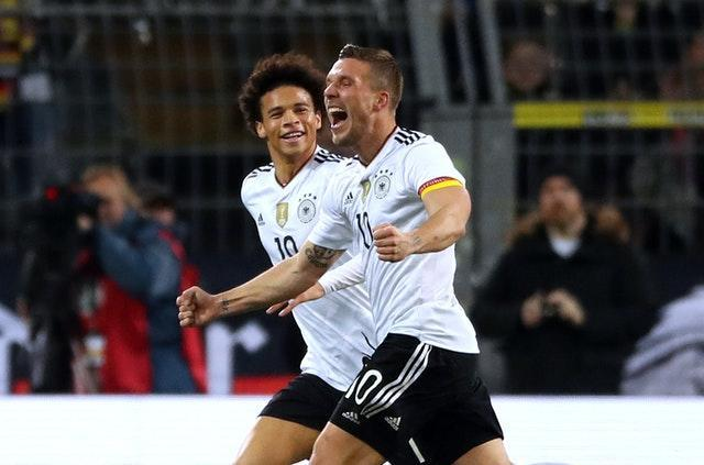 Lukas Podolski hit the only goal of the game as Germany inflicted a first defeat on Southgate.