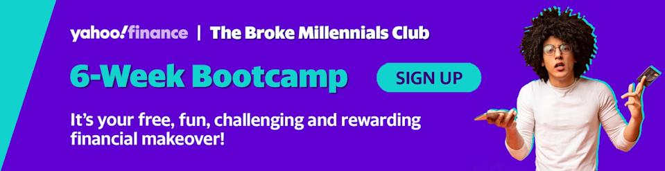 Sign up to the six-week financial bootcamp challenge!