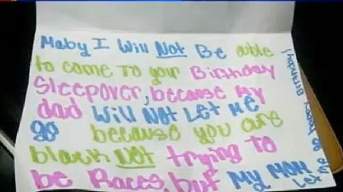 Little Girl Writes Note To Black Friend About Parents 39 Racism