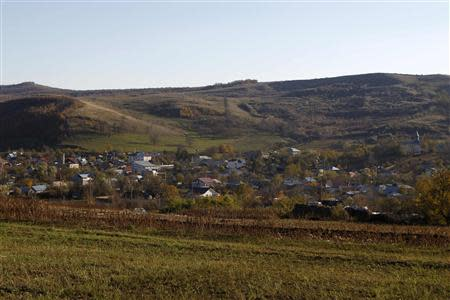 A general view of Pungesti village, where U.S. energy major Chevron plans to search for shale gas, northeast of Bucharest