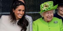 """<p>Yeah, <a href=""""https://www.delish.com/food/a21924663/meghan-markle-cant-eat-garlic-travels-as-a-royal/"""" rel=""""nofollow noopener"""" target=""""_blank"""" data-ylk=""""slk:Meghan isn't allowed to have garlic"""" class=""""link rapid-noclick-resp"""">Meghan isn't allowed to have garlic</a> anymore, especially not ahead of royal visits. That's because (1) it's not really nice to have bad breath, per royal protocol and (2) the Queen just haaates it.</p>"""