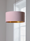 """<p>This velvet shade from Cox & Cox is the kind of classic blush pink that won't feel dated in a few years. The eye-catching gold metallic inner is great for providing a soft yellow glow. </p><p><strong>Shop: <a href=""""https://www.coxandcox.co.uk/blush-gold-velvet-shade/"""" rel=""""nofollow noopener"""" target=""""_blank"""" data-ylk=""""slk:Blush & Gold Velvet Shade at Cox & Cox"""" class=""""link rapid-noclick-resp"""">Blush & Gold Velvet Shade at Cox & Cox</a></strong></p>"""
