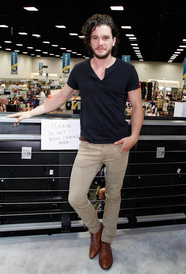 "Kit Harington attends HBO's ""Game of Thrones"" cast autograph signing at San Diego Convention Center on July 19, 2013 in San Diego, California."