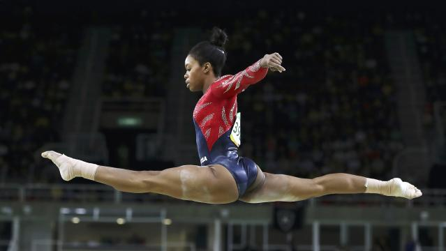 2016 Rio Olympics - Artistic Gymnastics - Preliminary - Women's Qualification - Subdivisions - Rio Olympic Arena - Rio de Janeiro, Brazil - 07/08/2016. Gabrielle Douglas (USA) of USA (Gabby Douglas) competes on the beam during the women's qualifications. REUTERS/Damir Sagolj IMAGES OF THE DAY. FOR EDITORIAL USE ONLY. NOT FOR SALE FOR MARKETING OR ADVERTISING CAMPAIGNS.