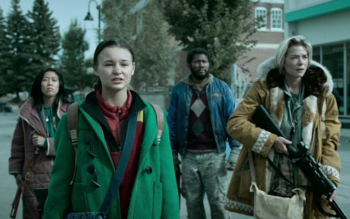 """<p><strong>Black Summer</strong>is set in the dark, early days of a zombie apocalypse, where complete strangers must band together to find strength to survive. This horror series stars Jaime King, Justin Chu Cary, and Christine Lee.</p> <p><a href=""""https://www.netflix.com/title/80198988"""" class=""""link rapid-noclick-resp"""" rel=""""nofollow noopener"""" target=""""_blank"""" data-ylk=""""slk:Watch Black Summer on Netflix"""">Watch <strong>Black Summer</strong> on Netflix</a>.</p>"""