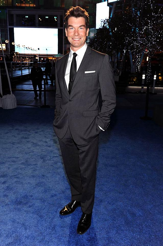 """Jerry O'Connell -- who can currently be seen on CBS' """"The Defenders"""" -- was all party on top and business on the bottom thanks to his Snooki-esque poof and charcoal gray suit. Frazer Harrison/<a href=""""http://www.gettyimages.com/"""" target=""""new"""">GettyImages.com</a> - January 5, 2011"""