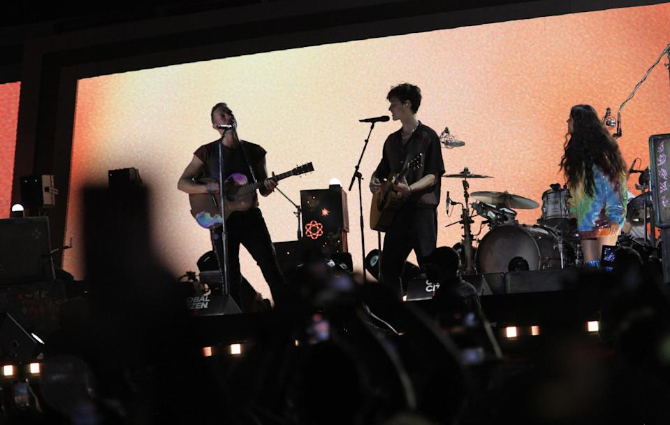 Coldplay, Camila Cabello and Shawn Mendes perform at Global Citizen Live in New York City. - Credit: ZUMAPRESS.com / MEGA
