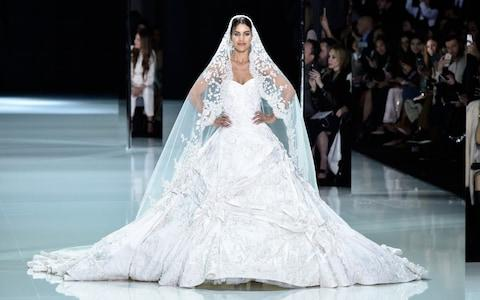 A couture gown by Ralph & Russo - Credit: Getty