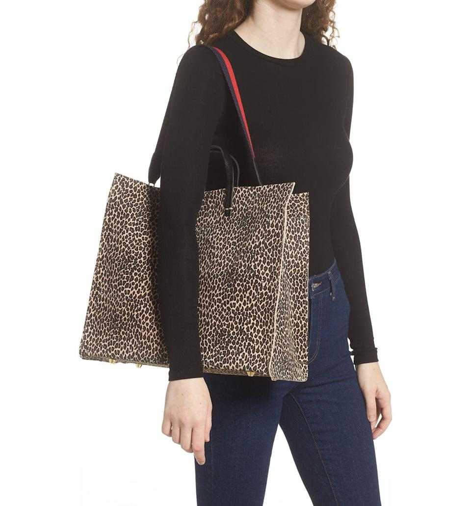 <p>Fit everything you need in this <span>Clare V. Simple Tote</span> ($333, originally $555). It's a great work bag, and also a weekender if you're going to be out all day.</p>