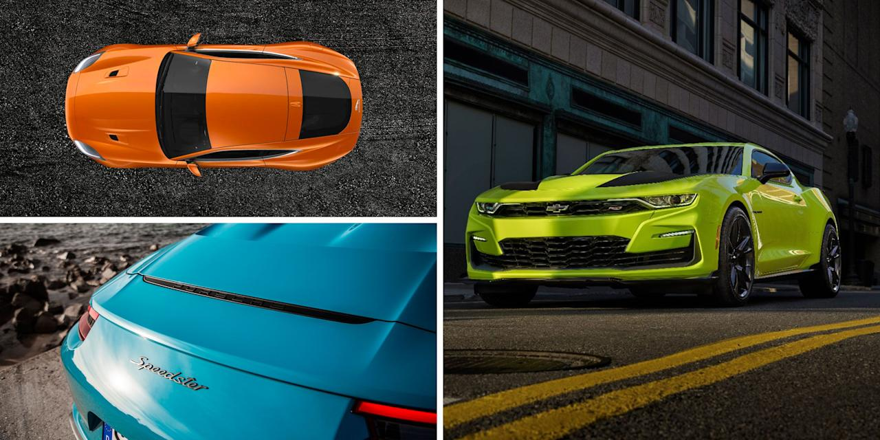 "<p>Maybe it's not a coincidence that as vehicle styles continue to blend and morph into ever more unique combinations (want <a href=""https://www.caranddriver.com/features/g24844580/crossover-coupes-suvs/"" target=""_blank"">an SUV with a coupe-like roofline</a>? Why not!), there has been a resurgence in bold paint colors. In 2019, it's easier than ever to express yourself by purchasing a brand-new car wearing a standout hue. </p><p>What follows are some of the most vibrant and amazing paint colors your favorite carmakers make available in showrooms today. We did leave a few brands out—for example, of <em>course </em>there's a crazy <a href=""https://www.caranddriver.com/lamborghini"" target=""_blank"">Lamborghini</a> color or nine, but then the company has long been known for letting its freak color palette fly. We're also not including those custom paint colors that fancy automakers will charge you zillions of dollars to slather on your high-dollar exotic (you know, the kind of thing where you can color-match your Rolls-Royce to a Snickers bar wrapper or something). We're focusing on colors you can walk into a dealer and buy. So, click through and see our favorites this year:</p>"
