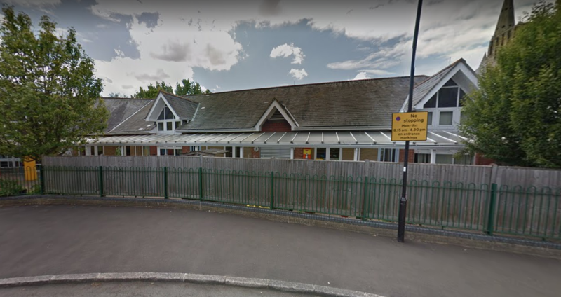Cardinal Road School in Feltham is one of the schools to have been evacuated. More