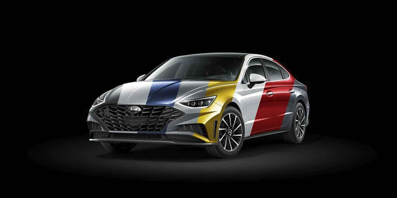 "<p>When <a href=""https://www.caranddriver.com/reviews/a26952218/2020-hyundai-sonata-design-prototype-drive/"" target=""_blank"">the new Hyundai Sonata</a> was first revealed, some of the <a href=""https://www.caranddriver.com/photos/g26692407/2020-hyundai-sonata-photos-info-gallery/"" target=""_blank"">images of the Korea-spec car</a> showed it in a shocking yellow paint color. We didn't know if the awesome hue would make it to the United States, especially given the typically reserved color palettes of the Sonata's competitors. Hyundai's website doesn't yet have a configurator, as pricing hasn't been released, but <a href=""https://www.hyundaiusa.com/2020-sonata/index.aspx"" target=""_blank"">it now has a page</a> that shows all of the Sonata's eight available exterior paints-including what Hyundai calls Glowing Yellow, confirming that the bright color will be available to U.S. buyers.</p><p>The new Sonata has a polarizing design, but it all comes together well. There's extremely weird side surfacing, <a href=""https://www.caranddriver.com/news/g26960657/hyundai-sonata-new-features-2020/"" target=""_blank"">the LED headlights flow into chrome trim strips</a>, and it has a fish-like mouth and a sharp rear end with an almost-ducktail spoiler. The pictured Sonata is the Turbo model, which features a wilder grille and a sportier body kit. Click through to see how each of the Sonata's colors looks on the new sedan.</p>"