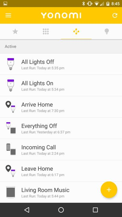 yonomi review smart home app screenshot