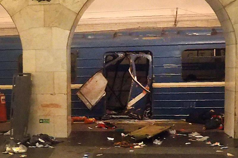 An explosive device went off on a train in the St Petersburg metro, killing at least 11 and injuring 50: Getty Images