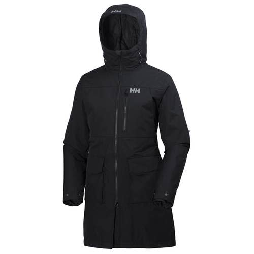 "<p>This black two-layer <a rel=""nofollow"" href=""https://www.mec.ca/en/product/5047-961/Rigging-3-in-1-Jacket"">quilted, insulated parka</a> can be worn in multiple seasons, as the zip-out inner jacket is lightweight. But with PrimaLoft synthetic insulation it's also meant for cold Canadian winters. There is an adjustable brimmed hood, lots of pockets, and it's waterproof and windproof. This polyester lined jacket uses Helly Tech laminate to repel water and zippers and snaps keep all the layers snugly together. </p>"